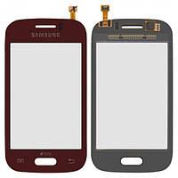 Сенсор (тачскрин) Samsung S6310 Galaxy Young, S6312 Galaxy Young Duos красный