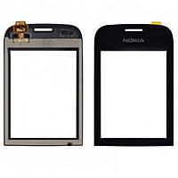 Сенсор (тачскрин) для Nokia 202 Asha/203 черный, фото 2