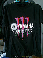 Футболка YAMAHA Monster Energy №1 100% хлопок черная
