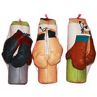 Груша боксерская средняя с рукавицами 50х15 см в сетке, арт. 33366