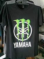 Футболка YAMAHA Monster Energy №2 100% хлопок черная
