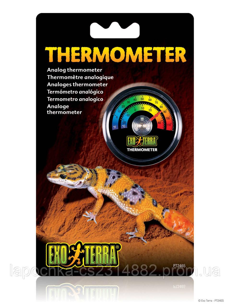 Термометр Exo Terra Analog Thermometer для террариума, аналоговый - Лапочка интернет-магазин зоотоваров в Харькове