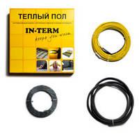 Тонкий нагревательный кабель для теплого пола IN-TERM 1080 Вт  на 5,3 м.кв.