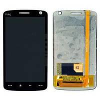 Дисплей (экран) для HTC T8282 Touch HD + с сенсором (тачскрином) черный