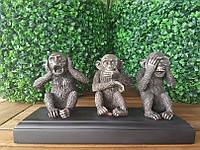 Коллекционная статуэтка Veronese Три обезьяны WU76581A4