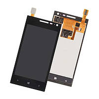 Дисплей (экран) для Huawei Ascend W1 + с сенсором (тачскрином) Black