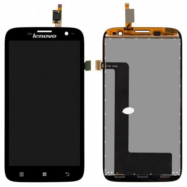 Дисплей (экран) для Lenovo A859 с сенсором (тачскрином) черный