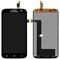Дисплей (экран) для Lenovo A859 + с сенсором (тачскрином) Black