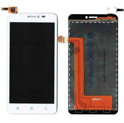 Дисплей (экран) для Lenovo S850 + с сенсором (тачскрином) белый, фото 2