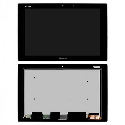 Экран (дисплей) для планшета Sony Xperia Tablet Z2 SGP511 с сенсором (тачскрином) черный, фото 2