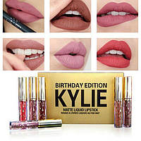 Матовая жидкая помада Matte Liquid Lipstick Kylie Birthday Edition набор 6 цветов