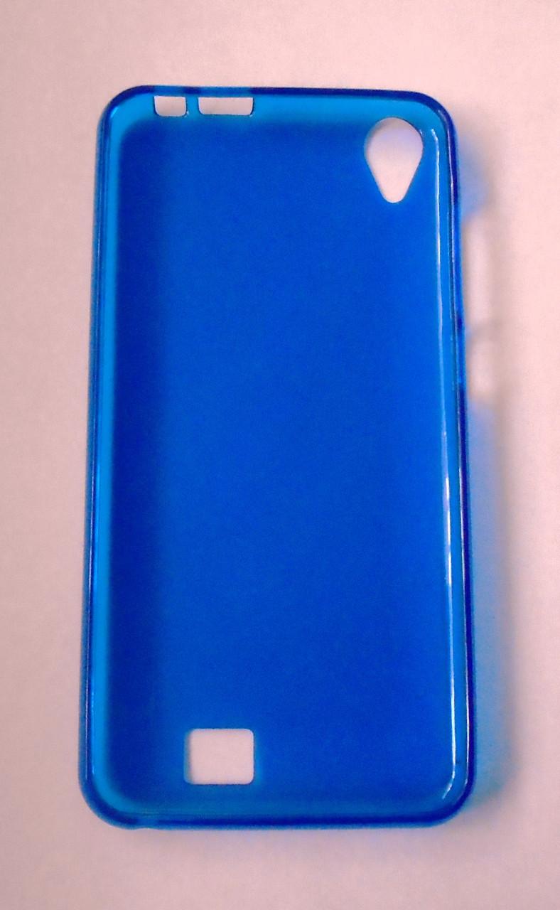 Силиконовый чехол-бампер для Homtom HT16 HT 16 синий