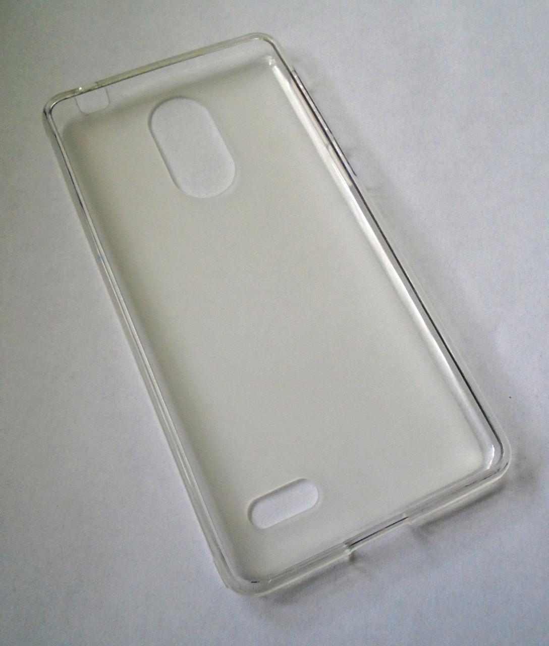 Чехол бампер силиконовый Leagoo M5 белый