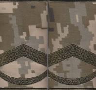 """Погоны МО """"муфта"""" вышитые штаб-сержант основа """"укр.пиксель"""" новые"""