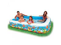 """Детский надувной бассейн """"Рыбки"""" прямоугольный Intex 58485"""