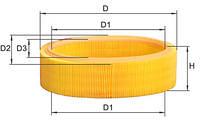 Фильтр воздушный 1.4-1.6MPI ALPHA FILTER 7700274216