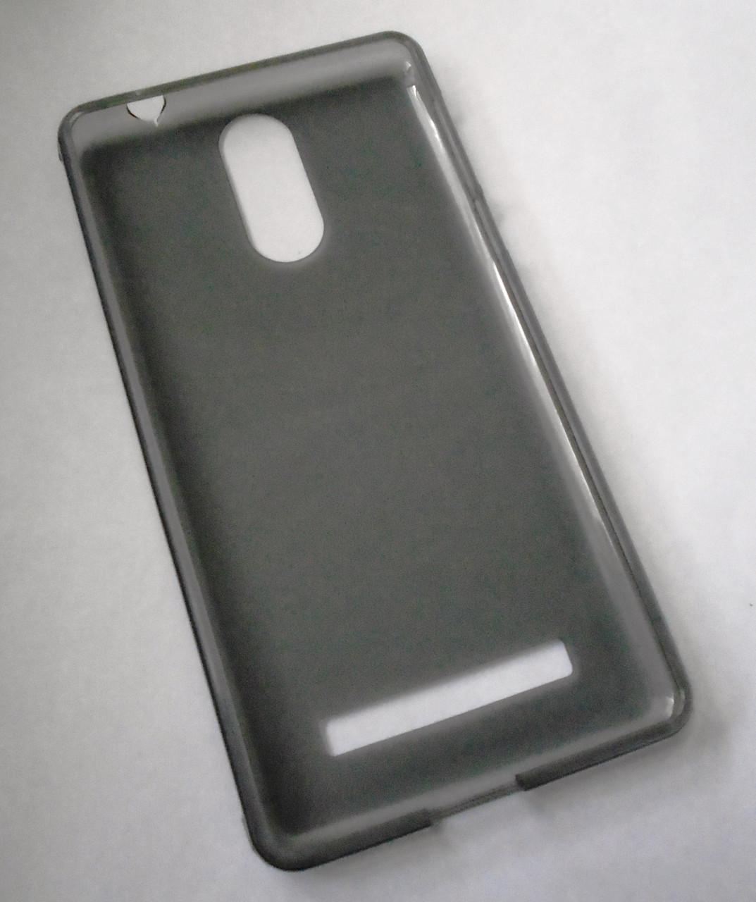 Чехол бампер силиконовый Leagoo M8 серый