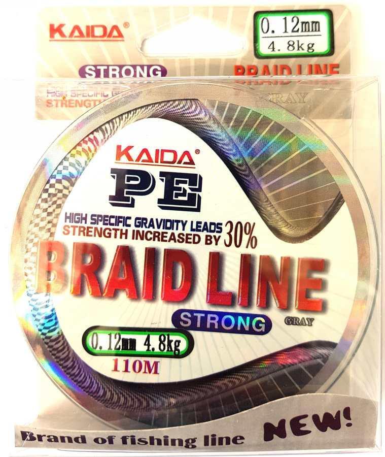 Шнур поводковый Kaida Braid Line переріз 0,12, 110м
