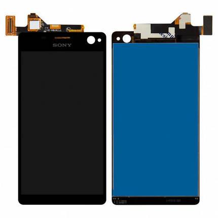 Дисплей (экран) для Sony E5333 Xperia C4 Dual Sim/E5343/E5353/E5363/E5303/E5306 + сенсором (тачскрином) черный, фото 2