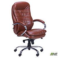 Кресло Валенсия HB кожзам коричневый (CS-618E PU BROWN)