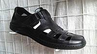 Туфли мужские босоножки летние с натуральной кожи черные