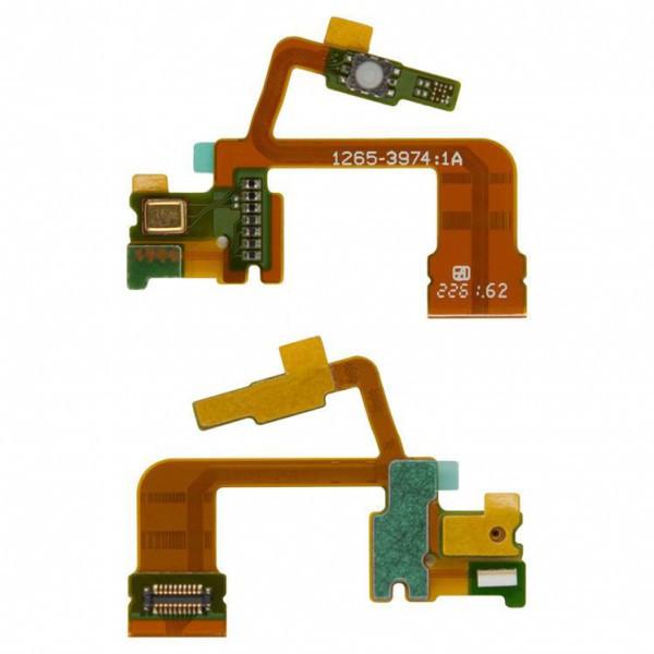 Шлейф для Sony Xperia ZL C6502/C6503/C6506, с кнопкой камеры, с микрофоном