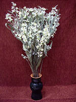 Цветы искусственные Ветка Лилия (мелкие белые)