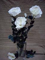 Цветы искусственные Роза (цвет белый)