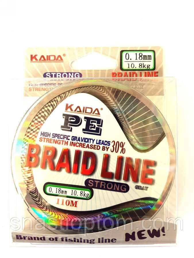 Шнур Kaida Braid Line переріз 0,18, 110м