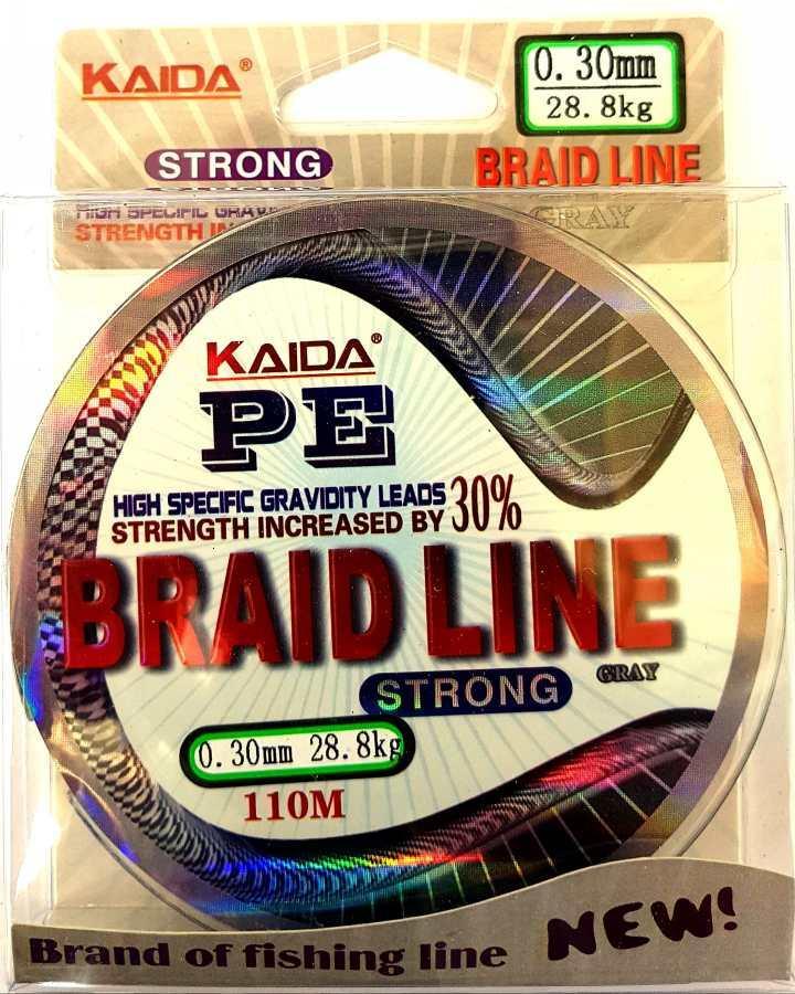 Шнур плетеный Кайда Braid Line сечение 0,30, 110м