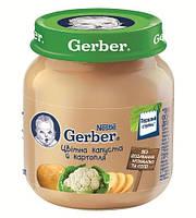 Овощное пюре Цветная капуста и картофель с 6 месяцев 130 г Gerber 1227240