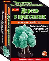 Выращивание кристаллов Дерево в кристаллах (зелёное)