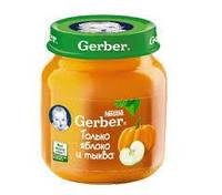 Плодово-овощное пюре Яблоко и тыква с 6 месяцев 130 г Gerber   1227245
