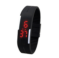 Спортивные Led - часы черные