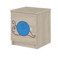 Тумбочка гравированная голубая улитка Baby Boo 100038