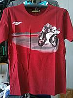 Футболка с мотоциклом Yamaha R1 100% хлопок красная