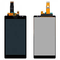 Дисплей (экран) для Huawei Ascend Mate MT1-U06 + с сенсором (тачскрином) Black
