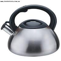 Чайник нержавійка із свистком 3л мат