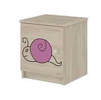 Тумбочка гравированная розовая улитка Baby Boo 100039