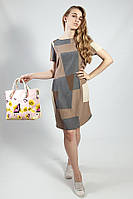Платье женское летнее  деловое легкое цветное с коротким  рукавом s.Oliver