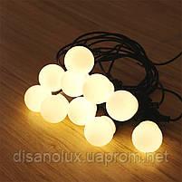 Гирлянда LED  уличная 5м+3м 10ламп шарик 50мм IP65, фото 2