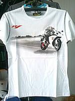 Футболка с мотоциклом Yamaha R1 100% хлопок белая