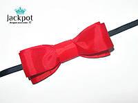 Дизайнерський червоний галстук метелик ручна робота