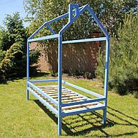 Детская кровать-домик на ножках с ящиками