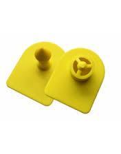 Ушная бирка номерная двойная желтая 27*27 мм  (1-1000) 100 шт упак. для овец