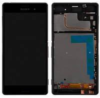 Дисплей для Sony D6603 Xperia Z3, D6643 Xperia Z3 с сенсором (тачскрином) и рамкой Black
