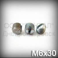 Винт М6х30 ГОСТ 1477-93 (DIN 551, ISO 4766) - гужон установочный с плоским концом