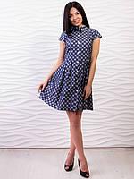 Стильное женское платье с геометрическим узором