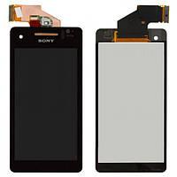 Дисплей (экран) для Sony LT25i Xperia V + с сенсором (тачскрином) черный