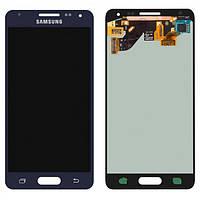 Дисплей (экран) для Samsung G850F Galaxy Alpha + с сенсором (тачскрином) черный Оригинал